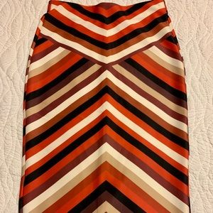 ECI New York striped skirt